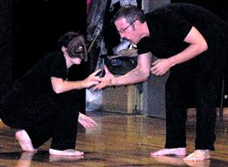 Jonathan Teaching Commedia Dell'Arte