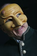 Zanni Commedia Mask
