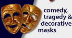 Comedy, Tragedy, and Decorative Masks