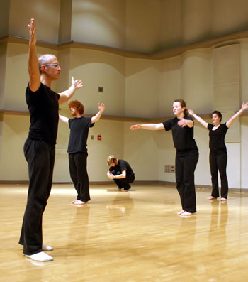 Jonathan Becker teaching a movement class