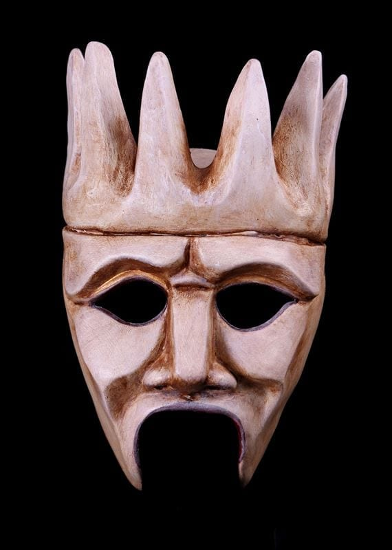 Crowned Chorus Greek Theatre Half Mask