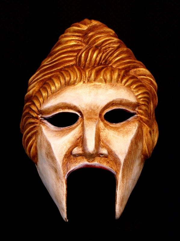 Goddess Greek Theatre Half Mask - Bone