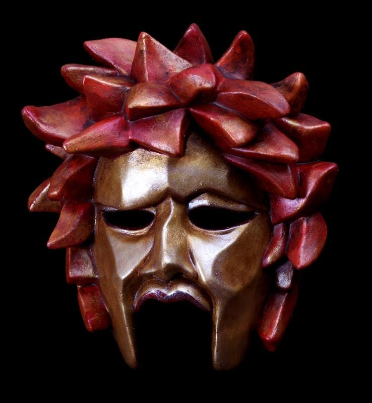 Medea Greek Theatre Half Mask - Gold