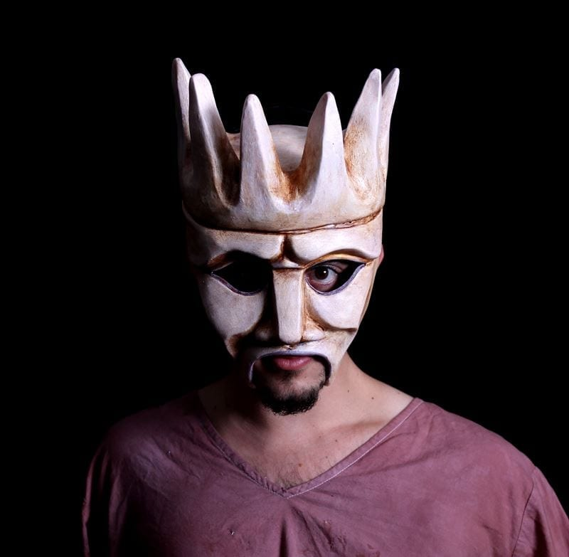 Modeled Crowned Chorus Half Mask