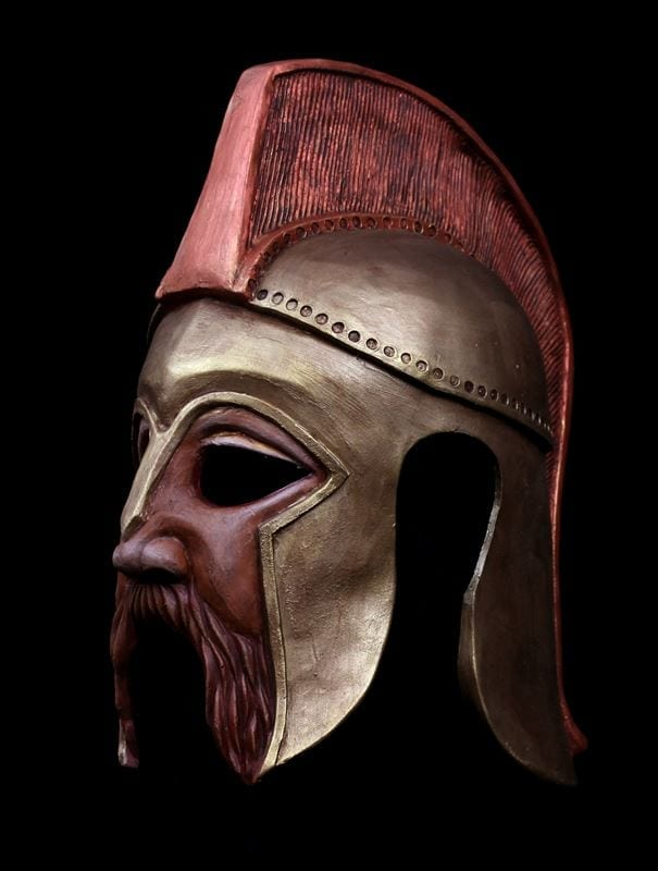 Amphytrion Helmet Mask, Left View
