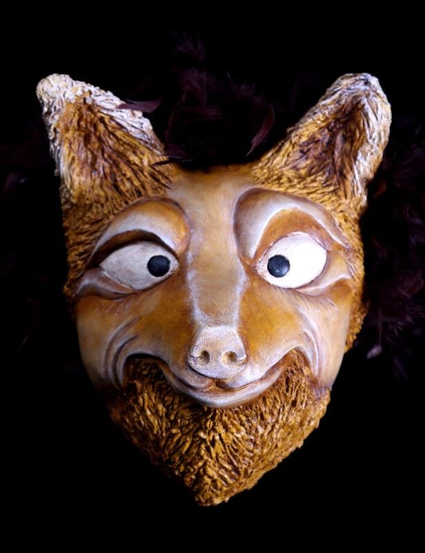 Wolf Mask, Yellow, Animal Mask