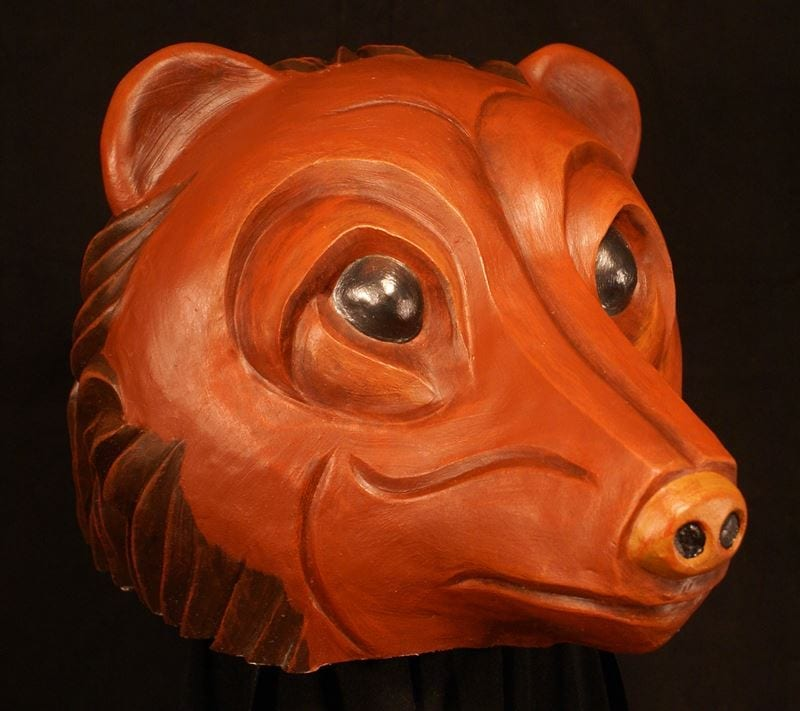 Bear Headpiece Theatre Mask