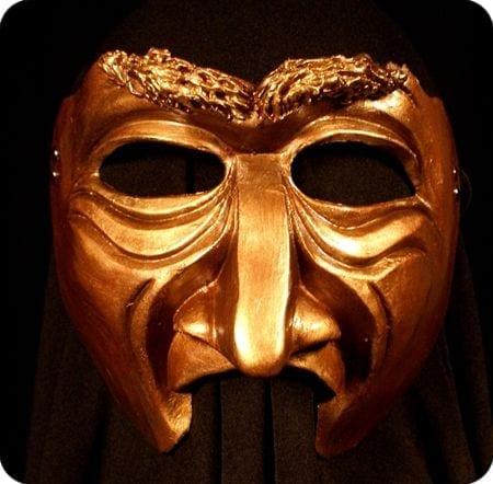 Bronzy Half Mask, Large