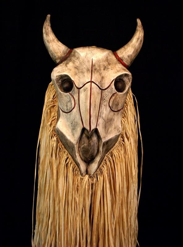 Buffalo Skull Mask, Front View