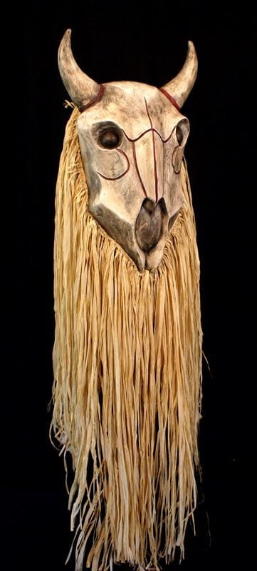 Buffalo Skull Mask, Right Side View