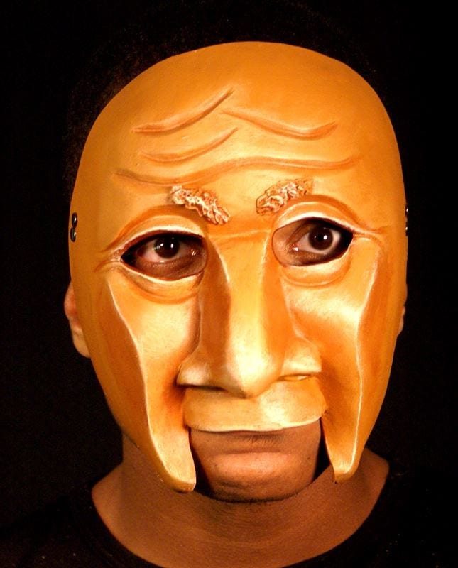 Character Half Mask Jos, Modeled, View 1