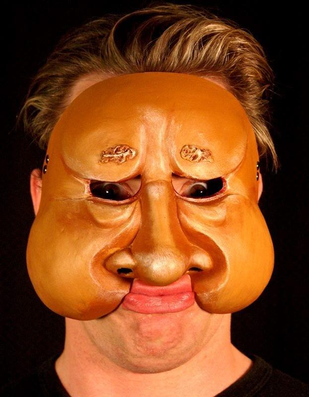 Character Half Mask Kaek, Modeled, View 1