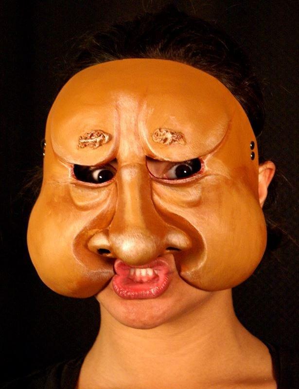 Character Half Mask Kaek, Modeled, View 2