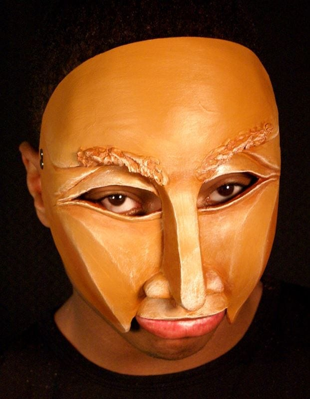 Character Half Mask Perrie, Modeled, View 1