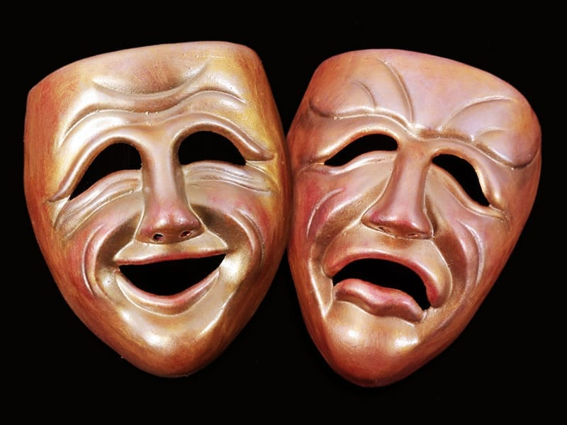 Decorative Comedy Tragedy Masks
