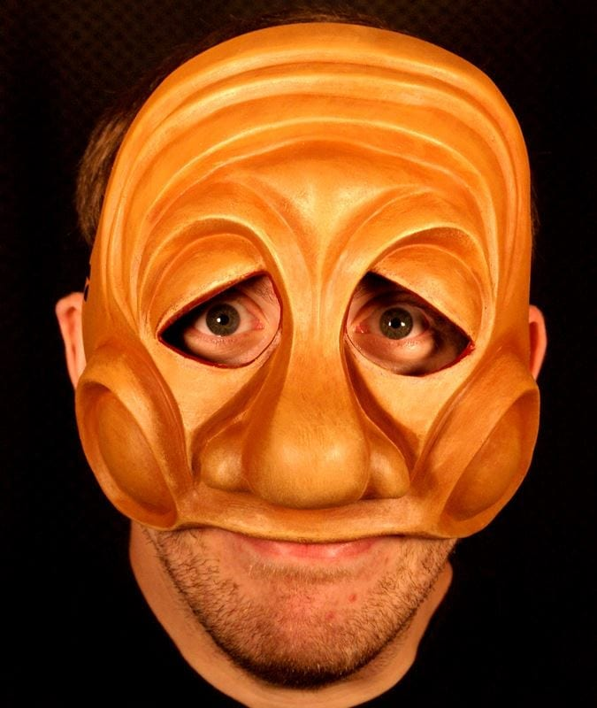 Arlechino, Commedia Half Mask 1, Modeled
