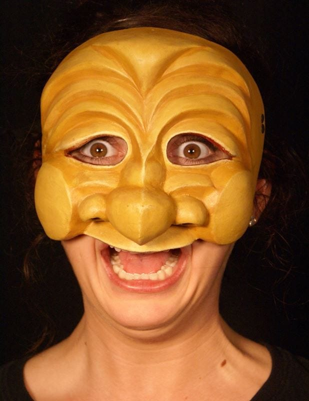 Bagatino, Commedia Half Mask, Modeled