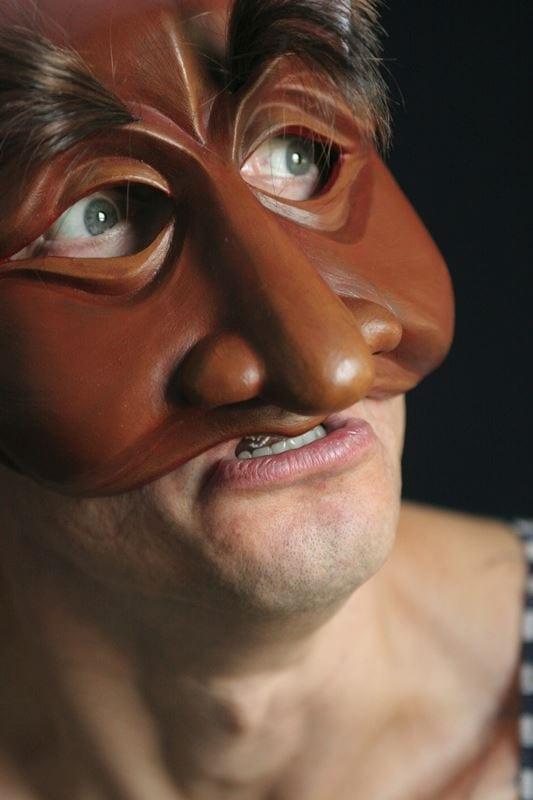 Brigella, Commedia Half Mask 1, Modeled