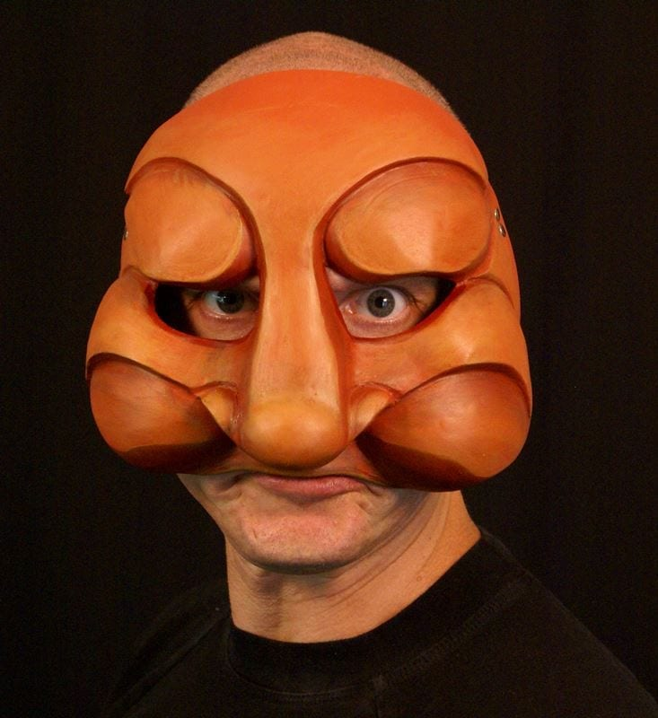 Brigella, Commedia Half Mask 2, Modeled