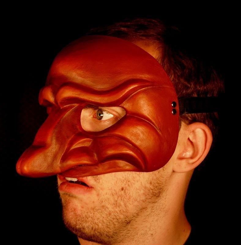 Capitano, Commedia Half Mask 2, Modeled