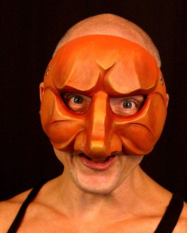 Capitano, Commedia Half Mask 3, Modeled