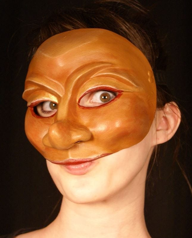 Cintia, Commedia Half Mask, Modeled