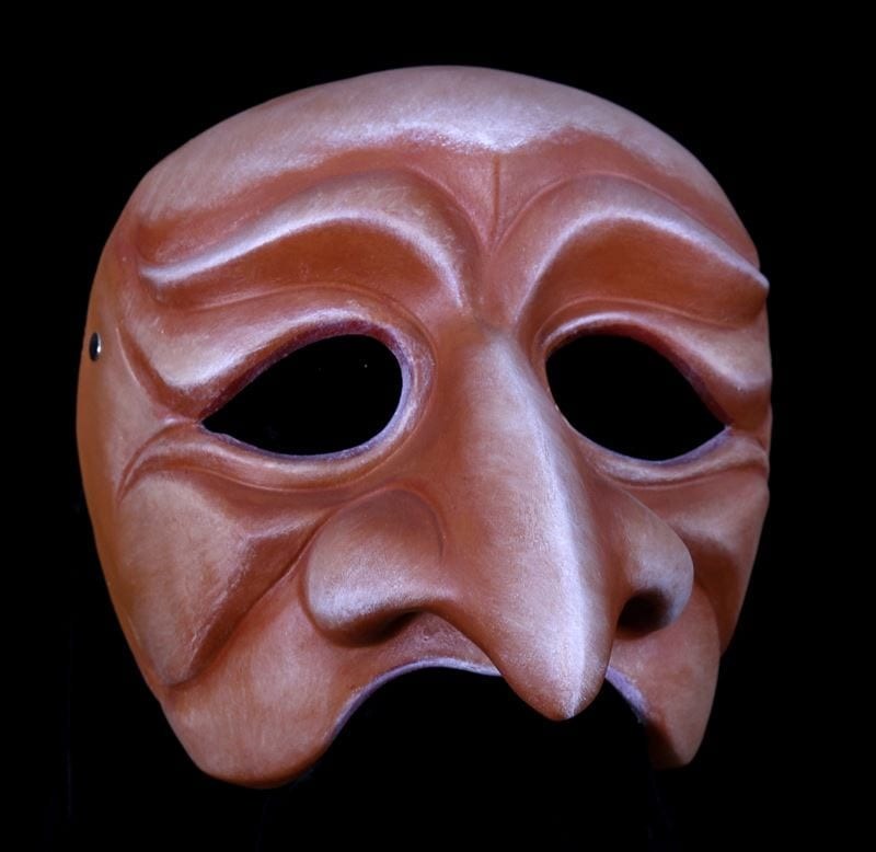 Coviello, Commedia Half Mask