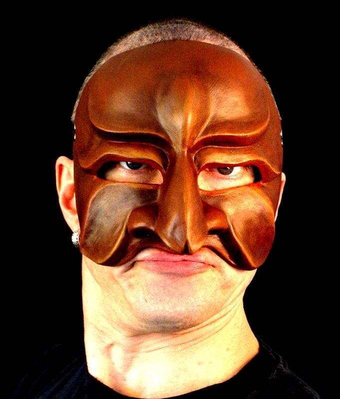 Evil Tartaglia, Commedia Half Mask, Modeled
