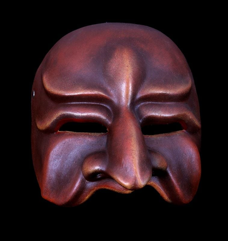 Evil Tartaglia, Commedia Half Mask