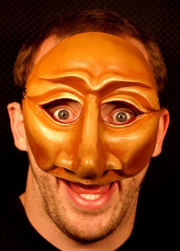 Leandro, Commedia Half Mask, Modeled