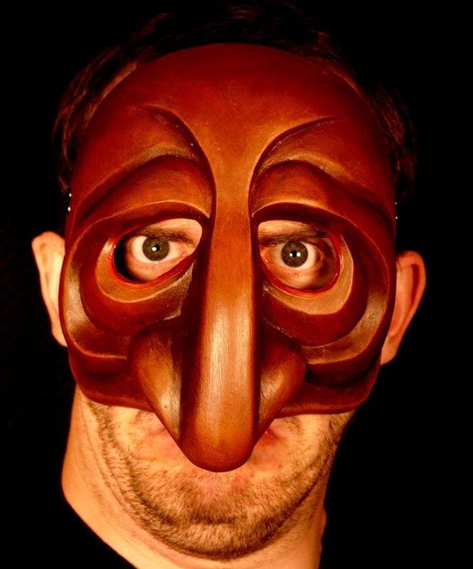 Pantelone 2 Commedia Half Mask