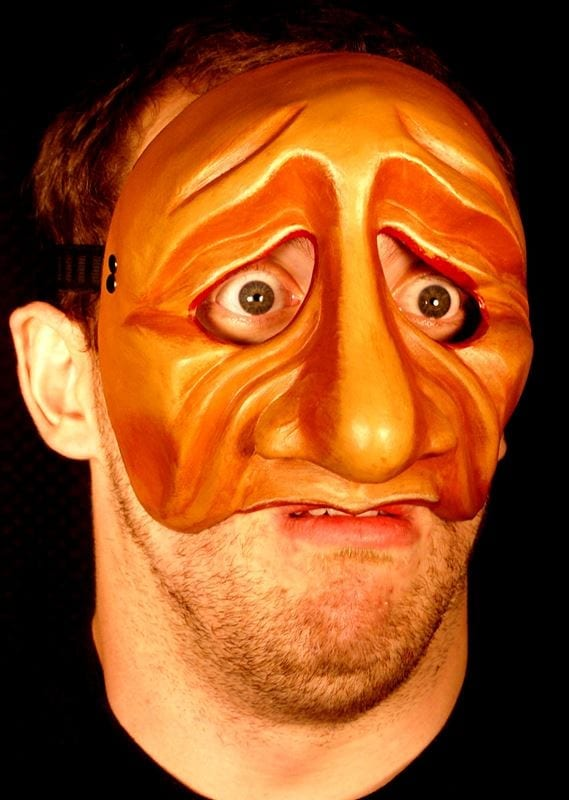 Pantelone 3 Commedia Half Mask