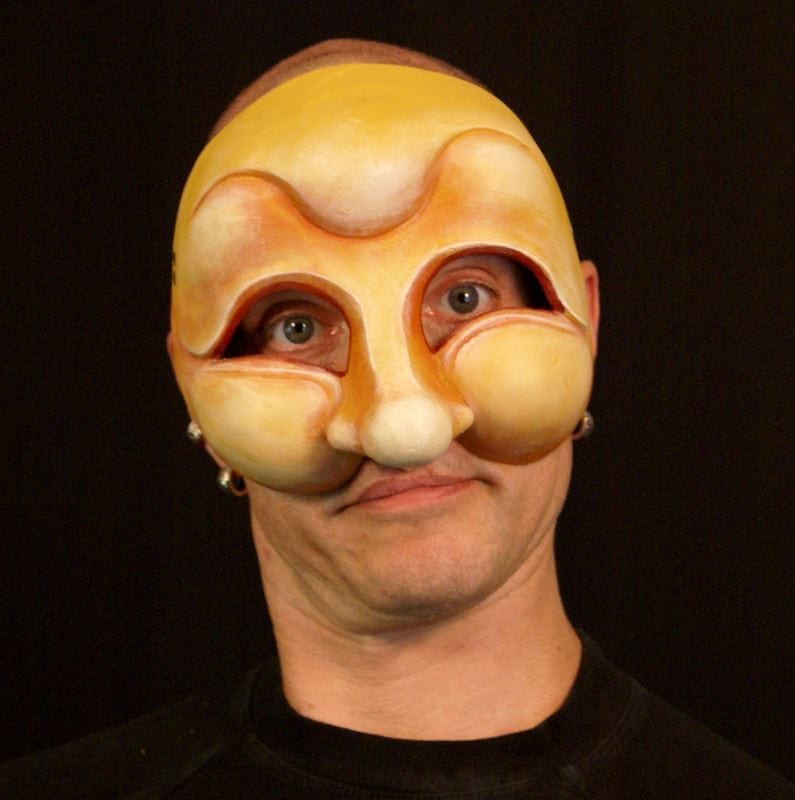 Pedrolino, Commedia Half Mask, Modeled