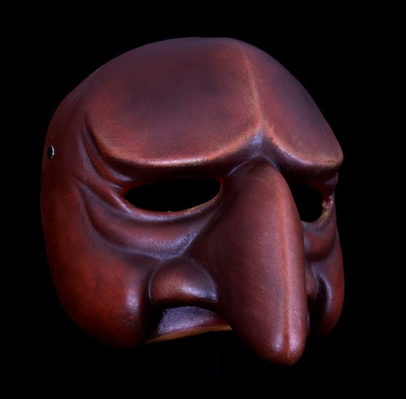 Punchinella, Commedia Half Mask 2