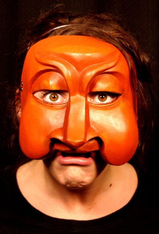 Smeraldina Commedia Half Mask