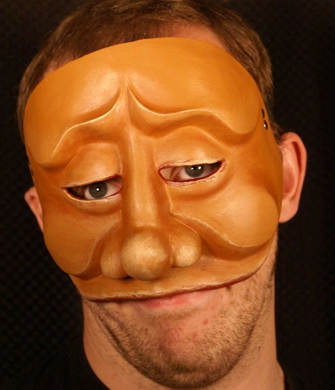 Tartaglia, Commedia Half Mask 1, Modeled
