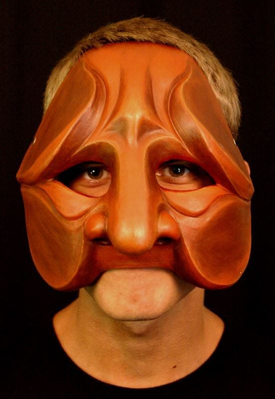 Tartaglia, Commedia Half Mask 2, Modeled