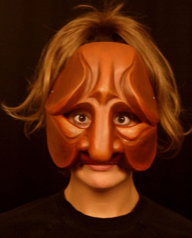 Tartaglia, Commedia Half Mask 2a, Modeled