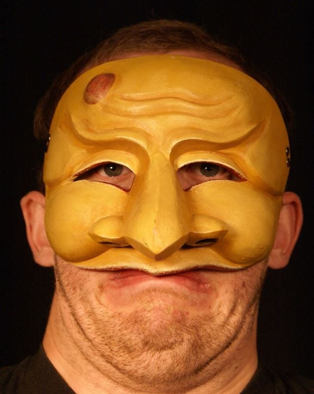 Zanni, Commedia Half Mask 1, Modeled