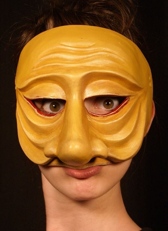 Zanni, Commedia Half Mask 2, Modeled