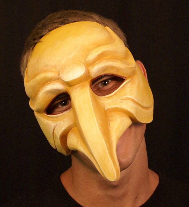 Zanni, Commedia Half Mask 4, Modeled