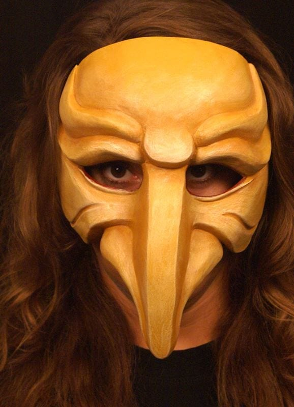 Zanni, Commedia Half Mask 4a, Modeled