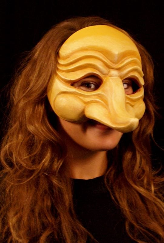 Zanni, Commedia Half Mask 5a, Modeled