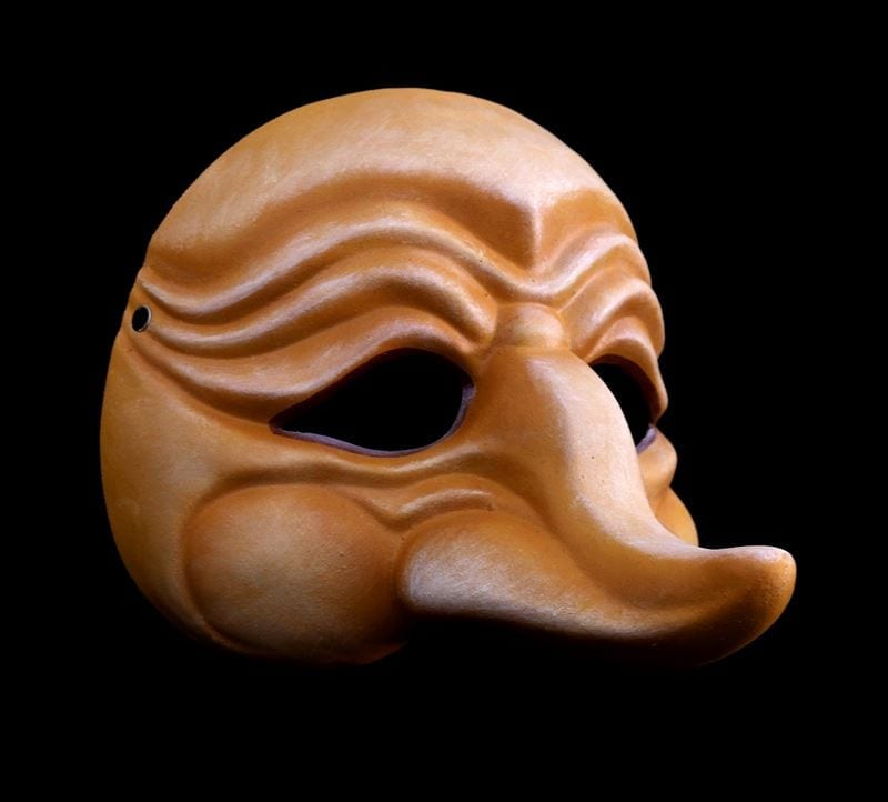 Zanni, Commedia Half Mask 5