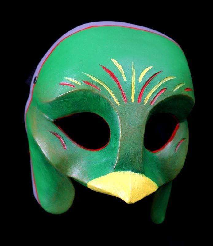Ethnic Questzal Bird Character Half Mask