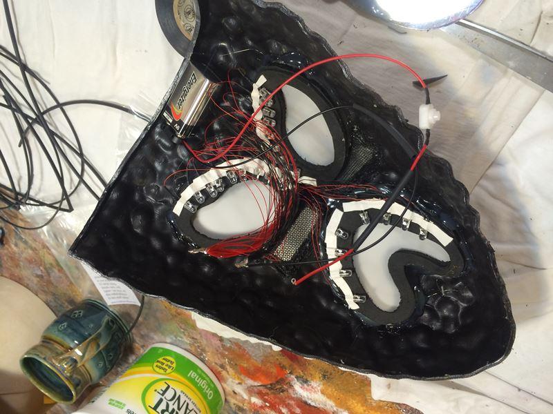 Tragedy Mask for DJ, LED Layout
