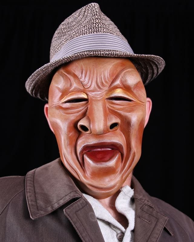Full Face Character Mask, Series 3, Number 1, Modeled, View 1