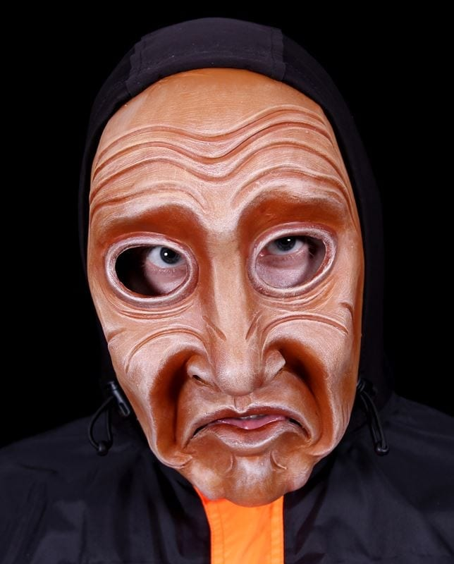 Full Face Character Mask, Series 3, Number 2, Modeled, View 1
