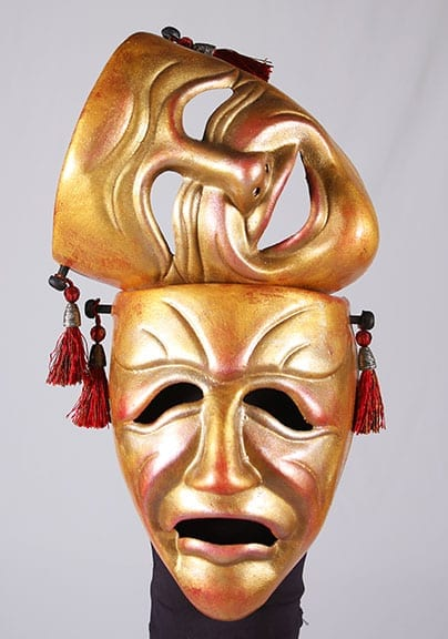 comedy tragedy mask pair