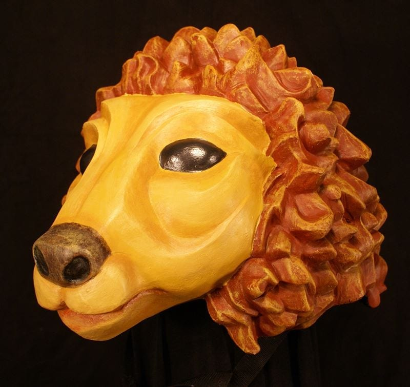 Lion Headpiece Theatre Mask